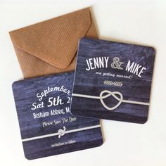 Customised Woody design for Save the Date beer mats! www.inkandseal.co.uk