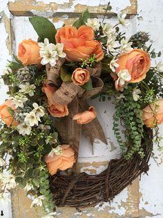 Spring Wreath Front Door Spring Wreath Easter by FlowerPowerOhio