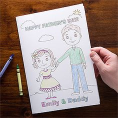 Personalized Father's Day Cards - Daddy & Me OVERSIZED Coloring Card - what a cute idea! It's only $5.95 and this site has a bunch of other personalized greeting cards that are perfect for Father's Day and WAY cheaper than cards at Hallmark!
