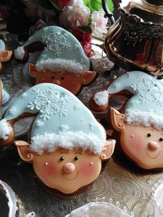 flaky little elves -cutest Christmas elves ever, done by Teri Pringle Wood, cookie cutter by TMP