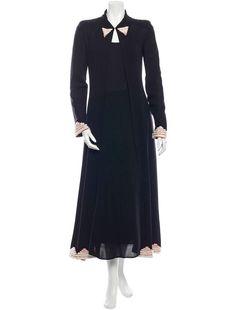 CHANEL 02P $7K BLACK SILK RUNWAY BEADED 3-PIECE ENSEMBLE EU40 DRESS GOWN VINTAGE #CHANEL #Maxi #Formal