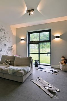 Discover recipes, home ideas, style inspiration and other ideas to try. Living Area, Living Room, House Windows, Kidsroom, Building A House, New Homes, House Design, Ceiling Lights, Interior