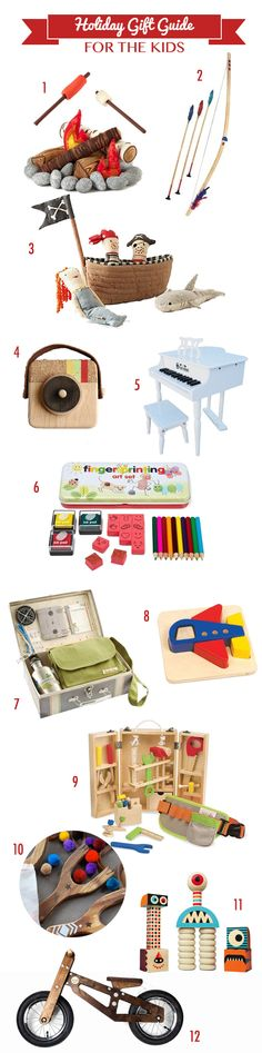 Holiday Gift Guide for Kids - unique gifts for children