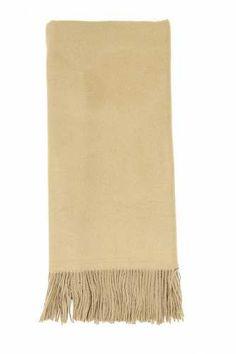 Prezzi e Sconti: #Sciarpa con frange sui lati Beige  ad Euro 10.00 in #Chiti4 #Borse e accessori sciarpe e colli