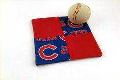Chicago Cubs Fans, Handmade Baby Quilts, Bbq Tools, Dinosaur Toys, Mug Rugs, Etsy Handmade, Handmade Items, Hot Pads, Cubbies
