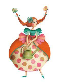 Thé des Princesses - Stickers Djeco - Mon grain d' sel Marie Desbons - so in love with her whimsical charactersMarie Desbons - so in love with her whimsical characters Art Fantaisiste, Illustration Mignonne, Arte Fashion, Art Mignon, Children's Book Illustration, Whimsical Art, Cute Drawings, Cute Art, Art For Kids