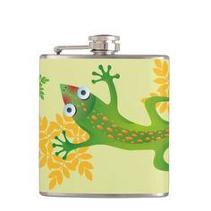 Hermoso lagarto verde, lizard. Regalos, Gifts. #bottle #botella