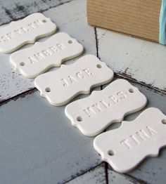 Custom Porcelain Gift Tags | Wedding Decor Guest Favors | Creative Works | Scoutmob Shoppe | Product Detail