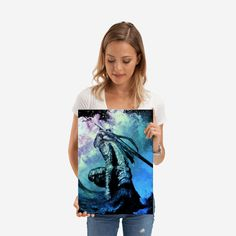 Wonderful Artorias poster made out of metal. Metal Wall Plate for Bedroom and Living Room. Poster Prints, Art Prints, Poster Making, Beautiful Soul, Plates On Wall, Metal Walls, Making Out, Tie Dye, Living Room