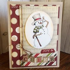Joy and Cheer   coloring white and quick work of Christmas greetings...