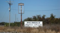 Sign for Palmdale Baptist Church, Palmdale, Florida.