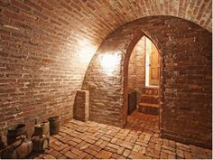 13 Viking Dr, Cherry Hills Village, CO 80113 Idea for a storm cellar? Storm Cellar, Home Wine Cellars, Outdoor Cooking Area, Solid Brick, Cellar Design, Root Cellar, Brick Architecture, Underground Homes, Dome House