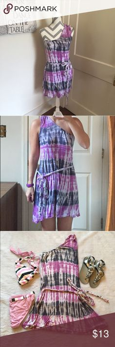 buffalo tie dye dress  Black and purple tie dye one shoulder dress   Would be great as a swimsuit coverup or with leggings   size small Please ask for additional pictures, measurements, or ask questions before purchase No trades or other apps. Ships next business day, unless otherwise noted in my closet Reasonable offers accepted  Five star rating Bundle for discount Buffalo David Bitton Dresses One Shoulder