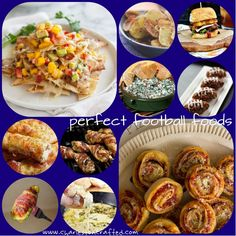 great collection of football food and tailgating recipes!