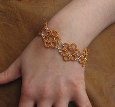 Pulsera Tatted lace & pendientes conjunto de por LandOfLaces