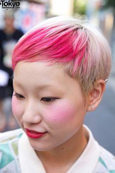 Tokyo Fashion: #hairdye #blush #pink #harajuku