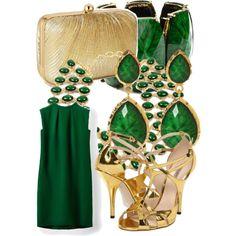 Emerald by chloeg01 on Polyvore featuring мода, Valentino, Bottega Veneta, Accessorize and Amrita Singh
