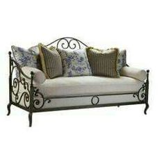 Wrought iron day bed