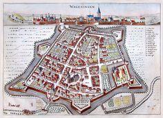 De plaats Wageningen in 1654 door Nicolaas Geelkercken 25x34WR  (1000×731)