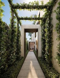 Fantastic Side Yard Garden Design Ideas For Your Beautiful Home Side Inspiration - TRENDHMDCR One of the challenges of small garden design is of course space Unlike large gardens, you must be much more … Modern Landscaping, Backyard Landscaping, Landscaping Ideas, Modern Pergola, Backyard Pergola, Walkway Garden, Paving Ideas, Outdoor Walkway, Backyard House