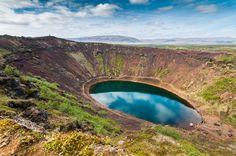 Kerid Volcanic Crater, ICELAND.