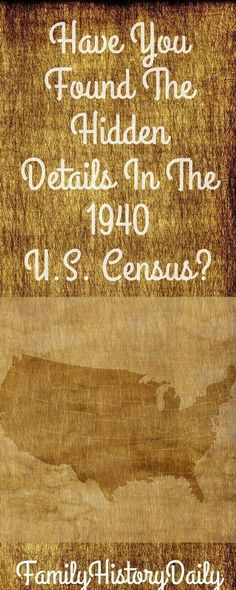 Use the hidden genealogy details found in the 1940 U.S. census to expand your family tree. Genealogy Websites, Genealogy Research, Family Genealogy, Free Genealogy Records, Ancestry Records, Genealogy Forms, Ancestry Dna, Family Trees, Family Tree Book