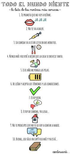 II, 11 - La lista de las mentiras más comunes (includes future and present perfect, too)