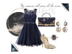"""""""My universe - Baile VOGUE"""" by diferentprincess ❤ liked on Polyvore featuring Laona, Oscar de la Renta and Renee Lewis"""