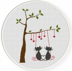 Cat Patterns in Counted Cross-Stitch By Leah J. Hileman