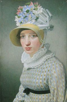 Christoffer Wilhelm Eckersberg, Portrait of a Young Woman, 1815; oil on canvas; 12 1/4 x 8 3/8 inches.