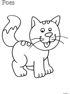 Cat coloring page Whale Coloring Pages, Farm Animal Coloring Pages, Cat Coloring Page, Colouring Pages, Coloring Sheets, Fruit Animals, Farm Animals, Bead Embroidery Patterns, Cross Stitch Embroidery