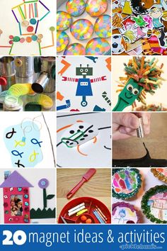20 Marvelous Magnet Activities and Ideas 20 Magnet Ideas and Activities Science Activities For Kids, Preschool Science, Elementary Science, Science Projects, Projects For Kids, Learning Activities, Preschool Activities, Crafts For Kids, Magnets Science