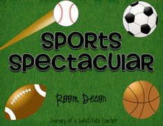Sports Spectacular Room Decor Pack | Edworld Exchange | Where Educators Buy and Sell Resources