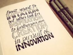 Inspiration creation innovation