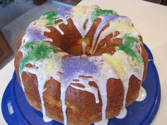 An easier version of a King Cake for Mardi Gras