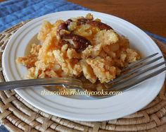 Might try someday...not sure about cheddar with pineapple n coconut. Pineapple Casserole (2)