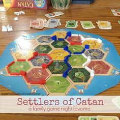 Settlers of Catan board game - fun family night game of strategy for ages 10 and up.