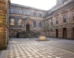 The Palladian courtyard at Lyme Park