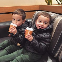 Coffee dates don t get much better than this costacoffee Twin Baby Boys, Twin Babies, Baby Kids, Cute Twins, Cute Babies, Mode Instagram, Coffee Date, Coffee Coffee, Cute Baby Pictures