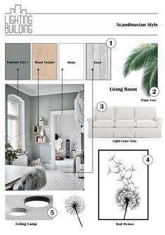 Mood Board Interior, Interior Design Boards, Moodboard Interior Design, Interior Inspiration, Scandinavian Interior, Scandinavian Style, Sketches Arquitectura, Interior Design Presentation, Aesthetic Rooms