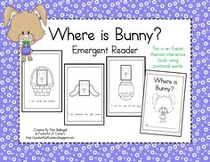 Where is Bunny? Emergent Reader with positional words for Easter