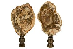 Petrified Wood Finials, Pair on OneKingsLane.com