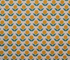 Yellow Flowers - Ellen Luckett Baker - Stamped - Kokka