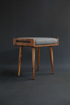 KENJI bench / Stool / Ottoman in Walnut on Behance