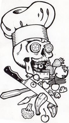 Chef Skull by Tyler Lewis-Goshen