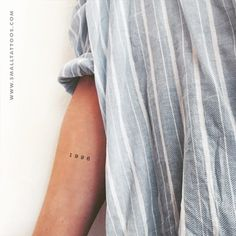 1996 Birth Year Temporary Tattoo (Set of 1996 Birth Year Temporary Tattoo (S. - 1996 Birth Year Temporary Tattoo (Set of 1996 Birth Year Temporary Tattoo (Set of This image h - Armbeugen Tattoos, Model Tattoos, Date Tattoos, Mini Tattoos, Tatoos, Ankle Tattoos, Word Tattoos, Tattoo Drawings, Inner Elbow Tattoos
