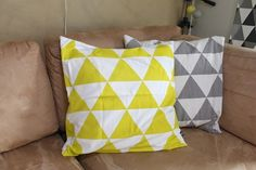 Triangle pillows