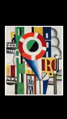 """Fernand Léger - """" Un disque dans la ville """", 1919 - Huile sur toile - 65 x 54 cm"""