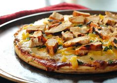 BBQ Cilantro Chicken Pizza - gives sauce and toppings to make this pizza. May need to try next Saturday. LOVE this site great recipes, sorts by ingredients or type of food
