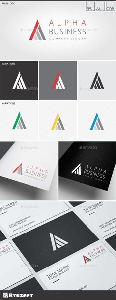 Alpha Business - Letter A Logo - Letters Logo Templates
